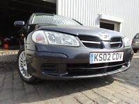 02 NISSAN ALMERA 1.5,MOT APRIL 017,2 KEYS,3 OWNERS FROM NEW,VERY RELIABLE FAMILY CAR