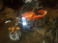 2x mini motos + mini quad