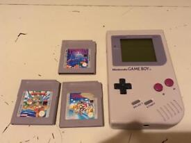 Nintendo Game Boy with 3 games