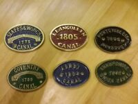 Canal boat badges