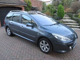 PEUGEOT 307 ESTATE SW SE HDI 1560CC 2007 5-DOOR DIESEL