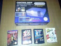 Original nes with games, including rare popeye
