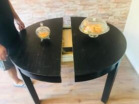 Ikea wooden foldable dining table with six chair