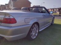 BMW 330ci M SPORT CONVERTIBLE GREAT CONDITION LEATHER INTERIOR SWAP or CHEAPER PART EXCHANGE WELCOME