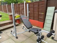 YORK 540 FOLDING Incline/Decline 2 in 1 Barbell / Weights Bench & Squat Rack