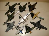 10x ATLAS EDITION DIECAST WW2 AIRCRAFTS , USED GOOD CONDITION , BUNDLE