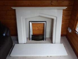 Marble Fireplace & Hearth