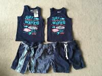 Boys shorts and top bundle age 2-3 years