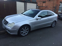 2001 MERCEDES C180 COUPE, 6 SPEED, LOW MILEAGE
