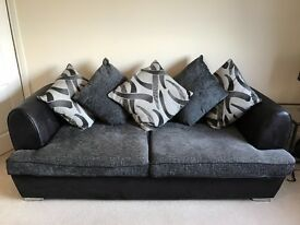 SOFAWORKS 3 seater grey/black sofa. Excellent Condition!