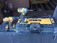 Dewalt Set - Impact Driver, Hammer Drill, Radio and 3 Batteries