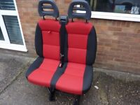 FIAT DUCATO 2014 FRONT PASSENGER SEATS IMMACULATE