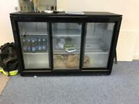Triple door bottle fridge