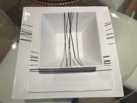 Set of 36 pieces plates