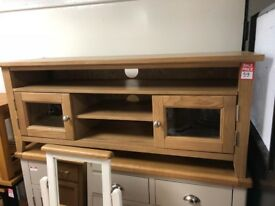 2 door TV unit -wood