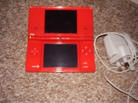 NINTENDO DSI RED MINT CONDITION WITH GAME AND CHARGER