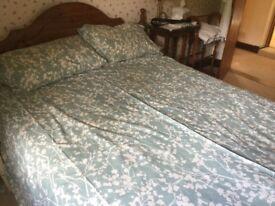 King Size Debenhams reversible quilt cover in duck egg blue