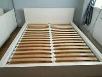 White kingsize bed