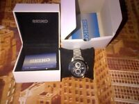 Seiko Analogue Quartz Cal. 4T57 1/10 Chronograph Man's Watch