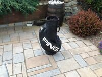 PING GOLF BAG PRO CART BAG EXCELLENT CONDITION , GOLF CALLAWAY NIKE TAYLOR MADE