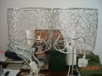 METAL TABLE LAMPS X 2