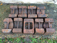 Antique Cast Iron Weights – 56lbs (Approximately 25kg)