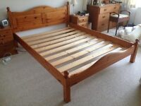 King Size (5 foot) Pine Double Bed