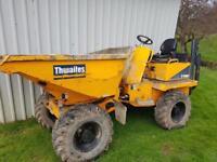 2014 thwaites 3 tonne swivel dumper