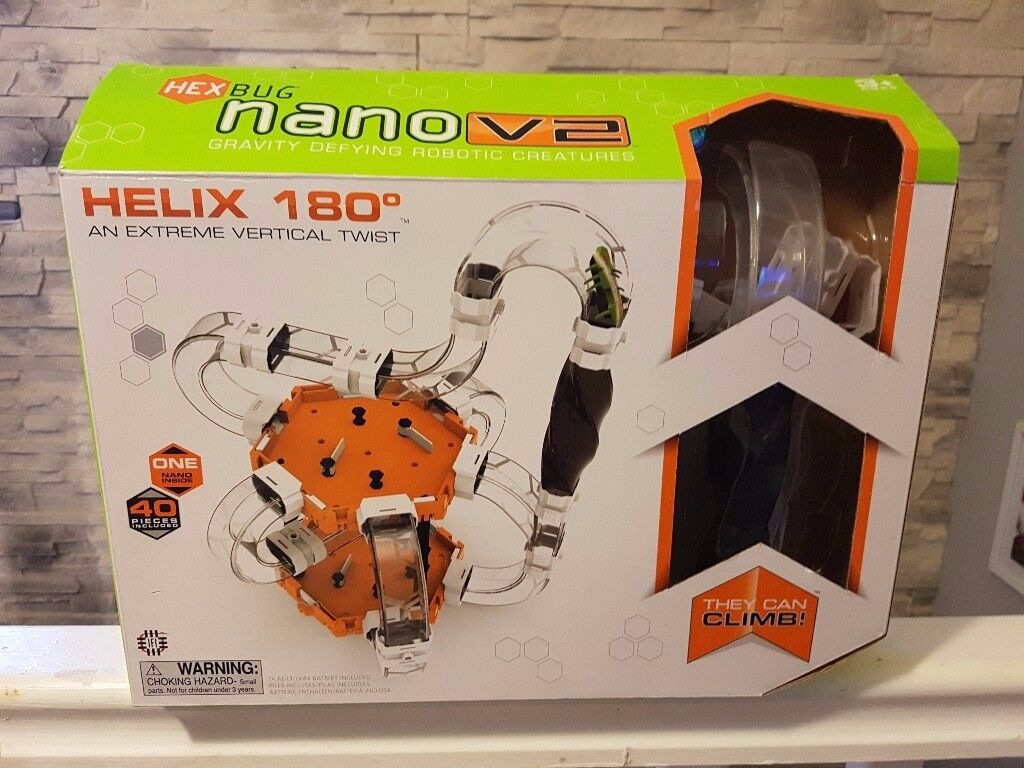 BN HEXBUG NANO V2 HELIX 180 EXTREME VERTICAL TWIST (like new) - WITH HEX BUG