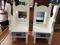 CUTE, QUIRKY AND UNUSUAL ANTIQUE VICTORIAN CHILD'S STOOLS/ BEDSIDE TABLES