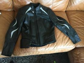 Leather ladies bike jacket