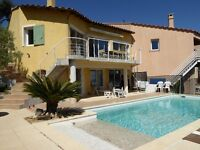 Villa 110 M², sea view, swimming pool 8X4m, in Hyères (Var 83400), 6 people, 5 min to the beach