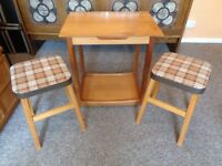 Vintage Retro Small Teak Table Trolley   StoolsVintage in Leicester  Leicestershire   Dining   Living Room  . Old Dining Chairs Leicester. Home Design Ideas