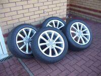 Audi TT genuine alloy set 2013 will fit many more cars from VW Audi Skoda ranges
