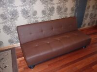 two sofa beds ( sofabed ) brown