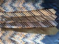 4 silk ties - designer - luxury