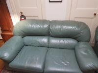 2/3 seater leather sofa and matching chair