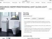 Tavistock Sequence 450mm freestanding unit in light gloss. Brand new and boxed