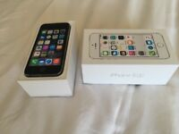 iPhone 5s 16gb on Vodafone lebara or unlocked using r-sim11. Boxed CAN DELIVER