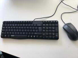 Rapoo Black Computer Keyboard and Mouse