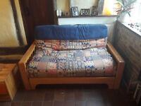 Double futon mattress and frame
