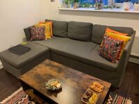 3 Seater LShape Sofa Bed With Storage.