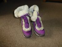 The North Face Purple Fur Boots
