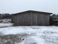 8m x 6m secure shed. Good access & parking
