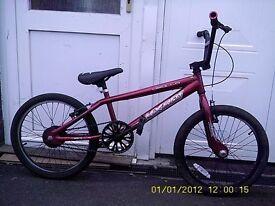 "BMX STUNT BIKE WITH 20"" wheels red"