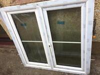2 double glazed windows 115x120cm