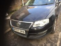 07 VW PASSAT 2.0 TDI 6 SPEED MANUAL FULL CAR BREAKING FOR PARTS CALL ON