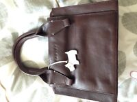 Radley brown leather clasp bag genuine with dust bag
