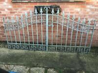 Gates fully Galvanised so will never rust last years lovely design a fortune new