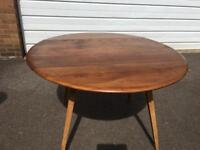 Ercol drop leaf table. 1960s Blue Label